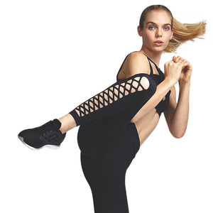 Black Lattice Leggings