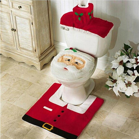 Santa Claus Christmas Toilet Set