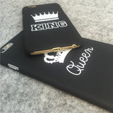 King and Queen Couple iPhone Cases