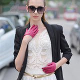 Half Palm Leather Driving Gloves