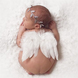 White Feather Angel Wings Newborn Baby Photo Prop