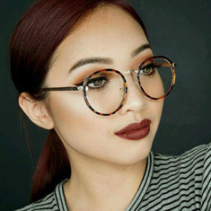 Sophisticated Round Clear Lens Glasses