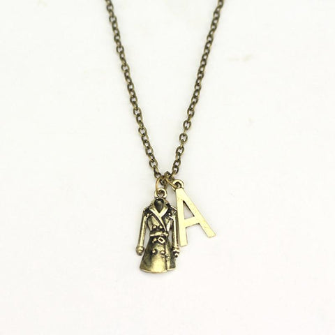 Pretty Little Liars Initial A and Trench Coat Charm Necklace