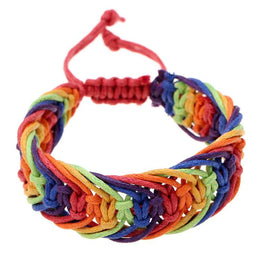 Gay Pride Rainbow Braid Bracelet