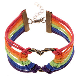 Gay Pride Heart Bracelet