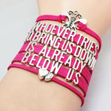 Whoever Tries To Bring Us Down is Already Below Us Bullying Awareness Bracelet