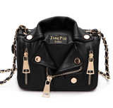 Biker Jacket Design Leather Clutch Bag