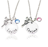 Thelma and Louise Best Friends Necklace
