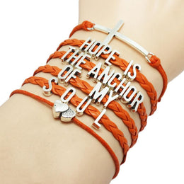 Hope Is The Anchor of My Soul Bracelet