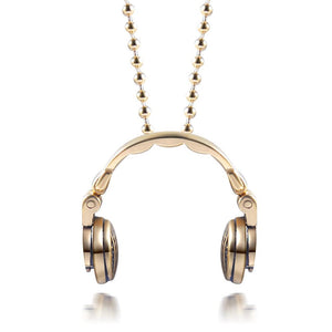 DJ Headphones Pendant Necklace