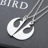 I Love You; I Know Lover's Couple Necklace