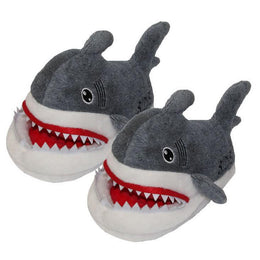Shark Plush Slippers for Grown Ups