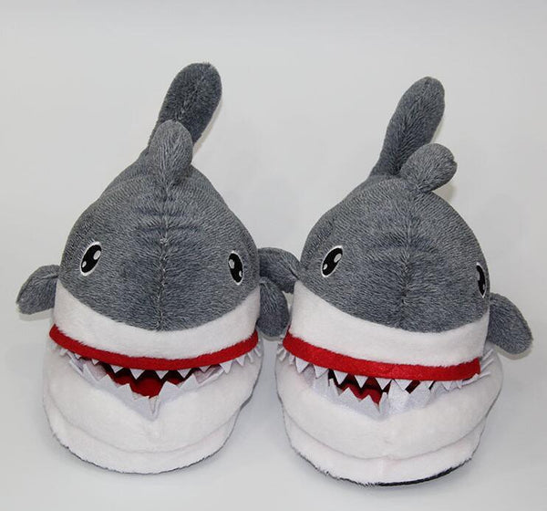 Shark Plush Slippers For Grown Ups Iwisb