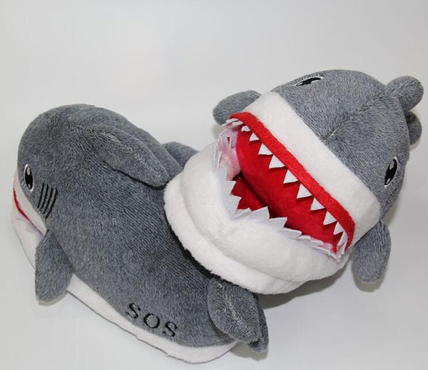 Shark Plush Slippers For Grown Ups Iwantitsobad