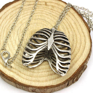 Anatomical Human Rib Cage Necklace
