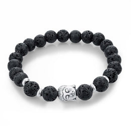 Buddha Bracelet with Lava Beads