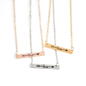 Love Arrow Bar Necklace