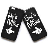 He's Mine She's Mine Matching Couples Protective Phone Case Cover for iPhone
