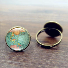 Wanderlust Antique World Map Ring