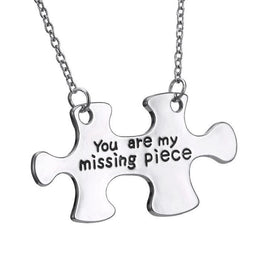 You Are My Missing Piece Puzzle Necklace