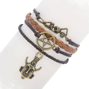 Supernatural Amulet Pentagram Skeleton Bracelet