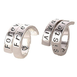 Forever Friends Always Sisters Best Friends Rings