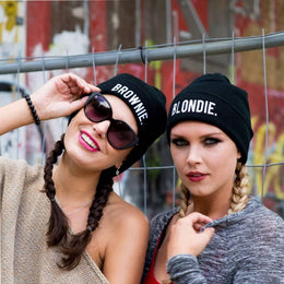 Blondie and Brownie BFF Beanies