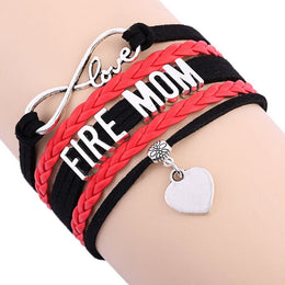 Fire Mom Infinity Love Bracelet