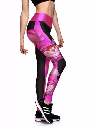 Cheshire Cat Printed Athletic Leggings