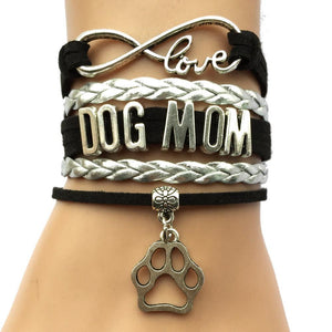Dog Mom Infinity Love Charm Bracelet