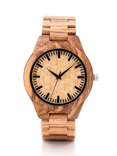 Eco-Friendly Bamboo Analog Wrist Watch