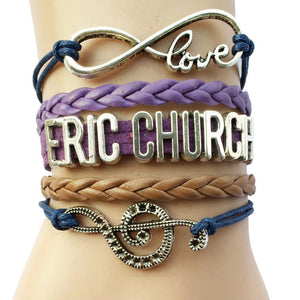 Eric Church Infinity Love Music Bracelet