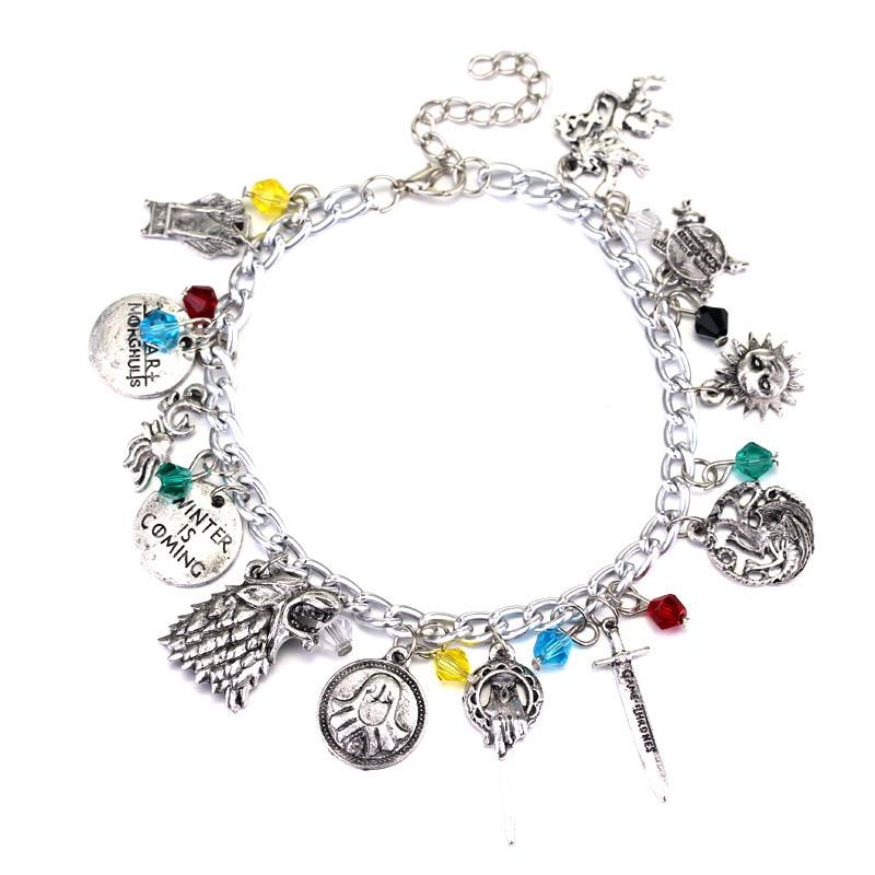 Game of Thrones 7 Kingdoms Charm Bracelet