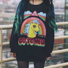 Unicorn GO TO HELL Sweatshirt