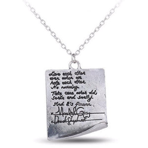 Grey's Anatomy Derek Meredith's Post-it Note Necklace