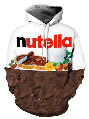 Nutella Print Long-Sleeved Hoodie