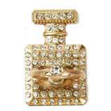 Perfume Bottle with Diamond Ring Charm Phone Stand