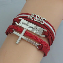 Jesus Follow Your Heart Bracelet