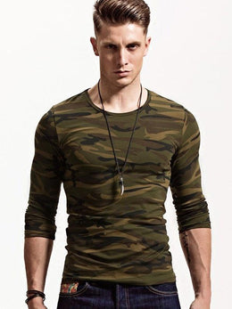 Long Sleeve Camouflage T-Shirt for Men
