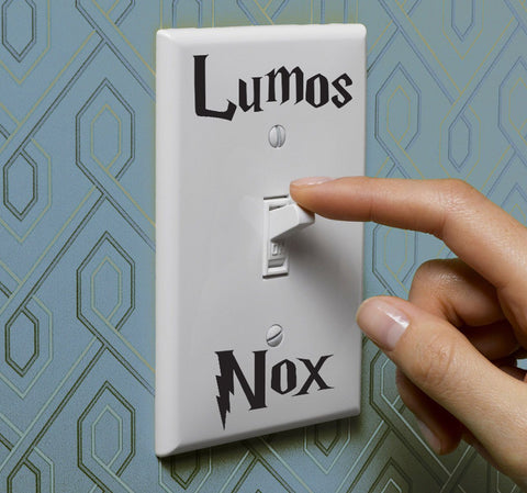 Harry Potter Lumos Nox Light Switch Sticker