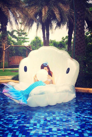 Mermaid Shell Pool Float