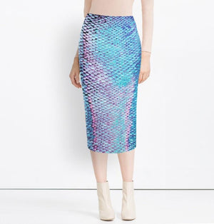 Mermaid Skin Maxi Tube Skirt