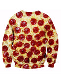 Illusion Pizza Print Sweatshirt