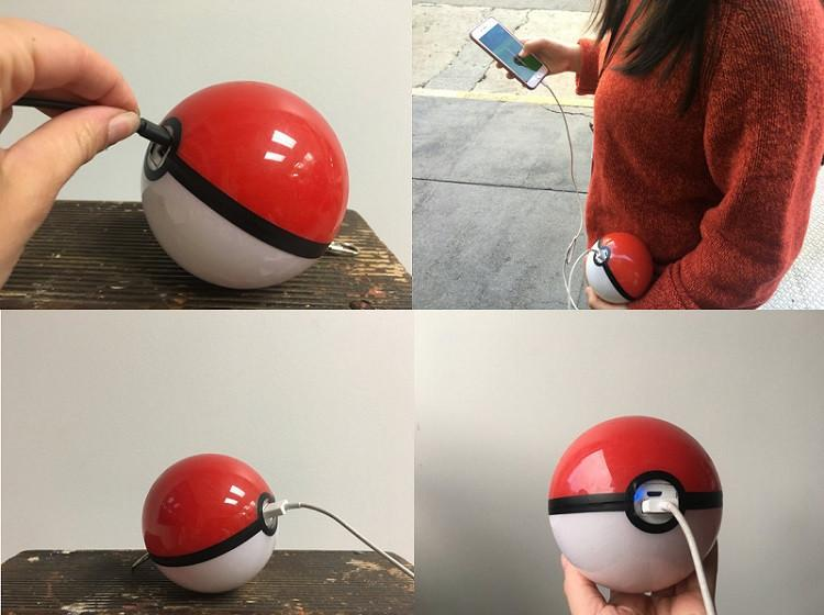 Pokemon Go Pokeball Power Bank Portable Battery Charger