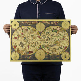Mythical Beast Vintage-style Astrology Poster