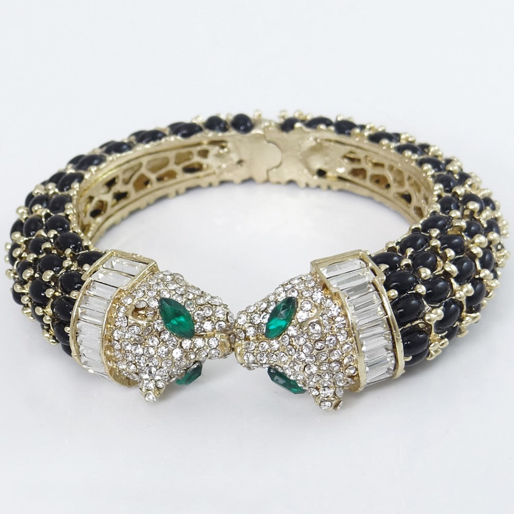 by alary marc yellow gold rotating pave loading large with panther bracelet