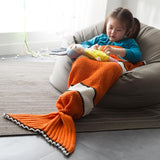 Clownfish Children's Mermaid Tail Blanket