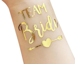 10pc Bride Team temporary tattoo