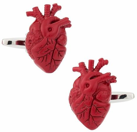 Anatomical Human Heart Cufflinks