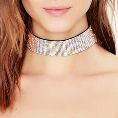Rhinestones Choker Necklace For Women